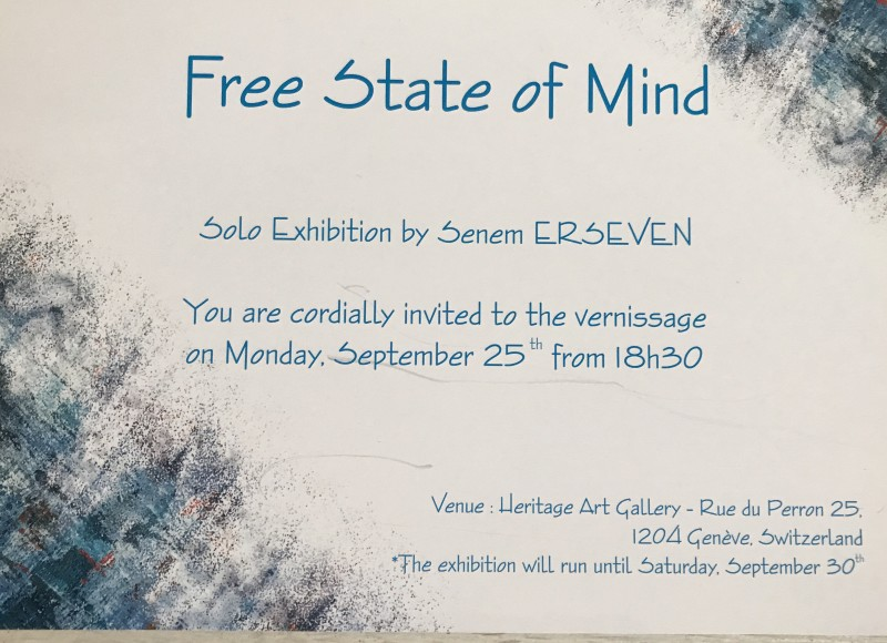 "Exhibition of ""Free State of Mind"" by Senem Erseven"