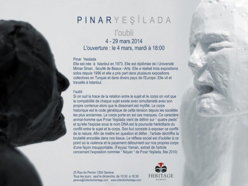 Exhibition ?L?Oubli? by Pinar Yesilada 04-29.03.2014