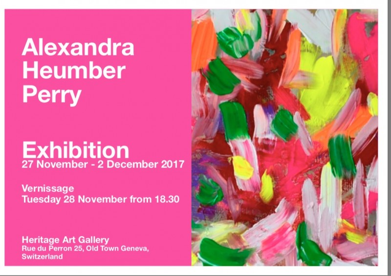 "Exhibition of Alexandra Heumber ""The Colours of My Art"" – 27 November"